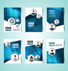 abstract report cover vector image