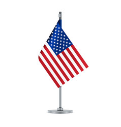 american flag hanging on the metallic pole vector image