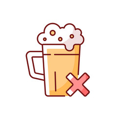 Avoid alcohol rgb color icon vector