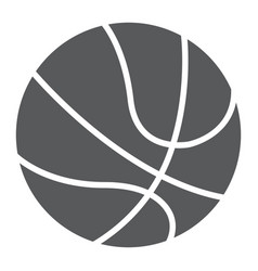 basketball ball glyph icon sport and game vector image