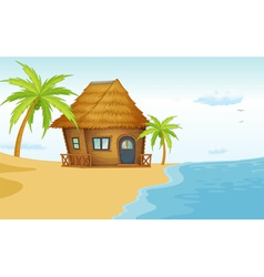 Beach bungalow vector