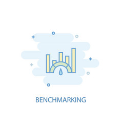 benchmarking line concept simple line icon vector image