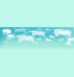 blue sky with clouds realistic beautiful vector image