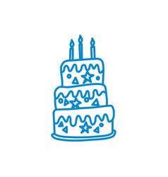 cake birthday design graphic template vector image