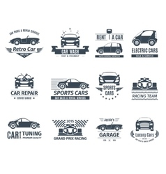 Car Logo Set Black vector
