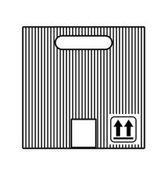 carton packing box icon vector image
