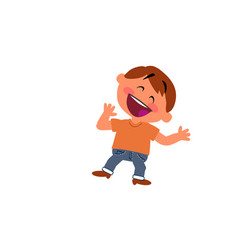 Cartoon character boy cheerful vector