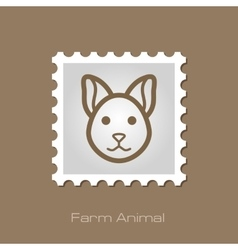 Cat stamp Animal head vector