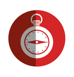 Chronometer time isolated icon vector