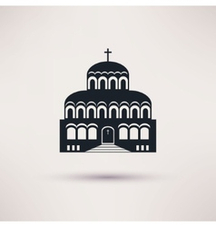 Church building a religious symbol icon vector