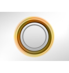circle gold vector image
