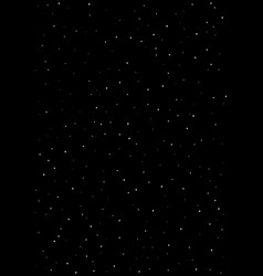 clusters of star in the dark sky black vector image