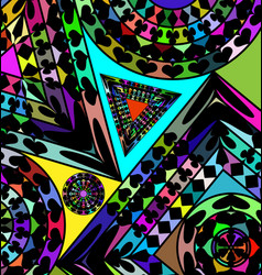 Colored abstract figures vector