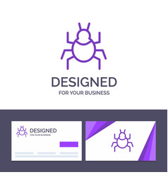 Creative business card and logo template bug vector