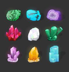 crystalline stone or gem precious gemstone magic vector image