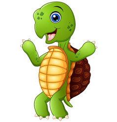 cute cartoon turtle standing vector image