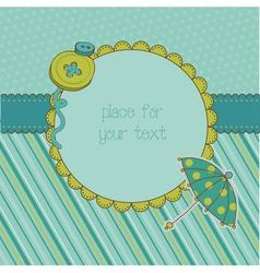 cute photo frame vector image