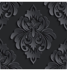 damask seamless pattern element Elegant vector image