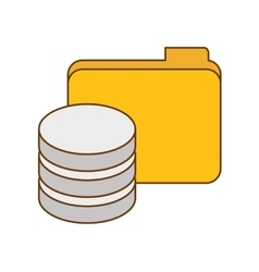 data center related icon image vector image