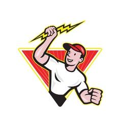 Electrician construction worker cartoon vector