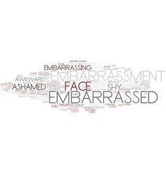 Embarrassment word cloud concept vector