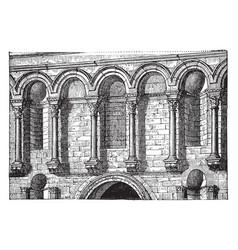 Entrance facade diocletians palace diocletian vector