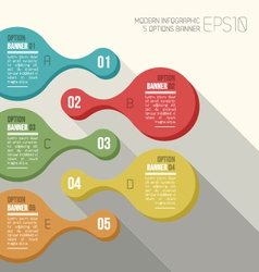 Five option banner infographic vector