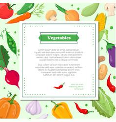 fresh vegetables - modern colorful vector image