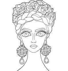 Girl with a decoration on her head 17 vector