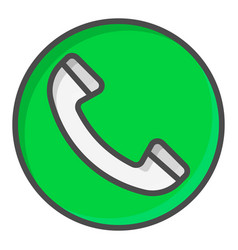 Green call button symbol vector