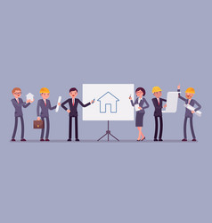 group of developers vector image