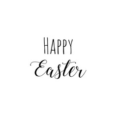 happy easter brush hand lettering on white vector image