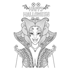 Happy halloween coloring vector
