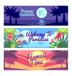 Happy summer travel time hawaii advertising vector