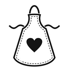 heart apron icon simple style vector image