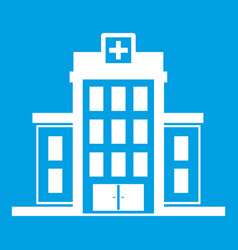 hospital icon white vector image