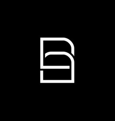 Initial letter b a logo template with file icon vector