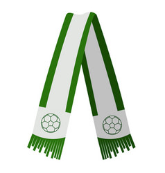 Isolated green scarf vector