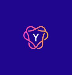 Letter y logo monogram minimal style identity vector