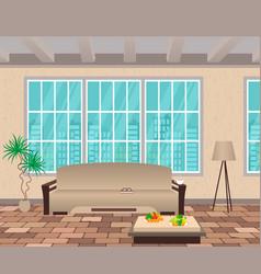Living room interior modern design of domestic vector