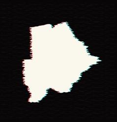 map botswana isolated black vector image