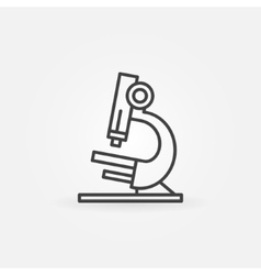 Microscope icon or logo vector image
