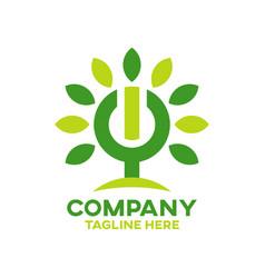 modern energy tree logo vector image