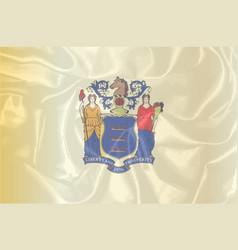 new jersey silk flag vector image