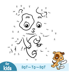 numbers game education game for children dog vector image