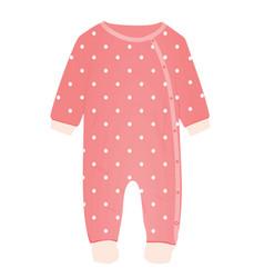 pink baby romper vector image