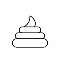 Poop icon in outline style vector