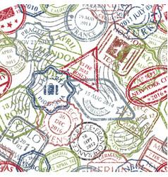 postal stamps pattern vector image