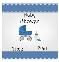 Postcard baby shower for baby boy vector image