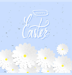 Quote happy easter day background design the vector